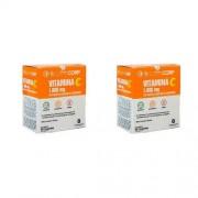 Kit com 2 Caixas de Vitamina C SupraCorp 1000 mg com 30 comprimidos cada caixa