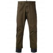 Dsquared2 брюки с джинсовыми вставками снизу Dsquared2