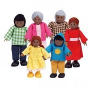 Jucarii eco Familie de 6 membri (negri) Hape