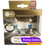 GE Megalight Ultra + 130 H7 12v 55w PX26d ( 2 Lâmpadas )
