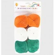 Enjoy Tricolor Tiranga Crape Roll - 6 Roll (Pack Of 1)