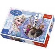 Puzzle clasic copii - Regatul de gheata Frozen- Prietenii din tinutul inghetata 60 piese