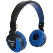 WIRELESS Full BASS Sound Bluetooth headphone With FM Blue