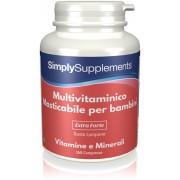 Simply Supplements Multivitaminico masticabile per bambini - 360 Compresse