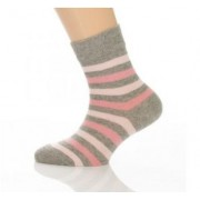 Gyerek zokni - Rózsa csíkos 31-32