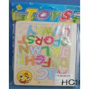 Fa puzzle, színes betűk