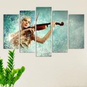 Декоративeн панел за стена с абстрактен музикален мотив Vivid Home