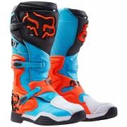FOX Comp 8 2016 Motocross Stiefel Schwarz Blau Orange 47 48