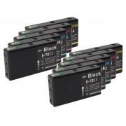 (10pack) EPSON T7011-14 multipack XXL - kompatibilné náplne do tlačiarne Epson