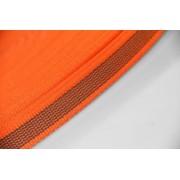 PES-Band orange beidseitiger Gummiauflage 20 mm 50 mtr. Rolle.