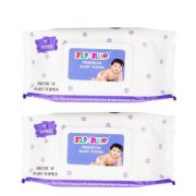 Florite Premium Baby Wet Wipes with Aloe Vera and Vitamin E - 72 Wipes (Pack of 2)