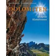 Klimgids - Klettersteiggids - Fotoboek Dolomiten 50 alpine Kletterrouten Dolomieten | Rother