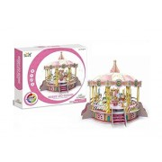 Big Daddy's 3-D Puzzel Building Set, Amusement Park Series With Lights, Sound And Movement, Take Your Imagination On A Ride And Create A Carousel Merry Go Round by Big-Daddy