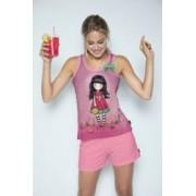 Pijama dama cu maiou Gorjuss - Every Summer has a Story scurta bumbac XL