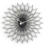 Vitra - Sunflower Clock, Esche schwarz / Messing