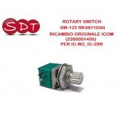 ROTARY SWITCH SW-122 RK 097103H RICAMBIO ORIGINALE ICOM (2260001400) PER IC-W2, IC-2SR