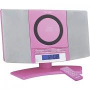 Denver MC-5220 Sistema stereo AUX, CD, FM, Montaggio a parete ;Rosa