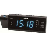 Radio ceas Akai ACR-3888 proiectie incarcator telefon USB negru