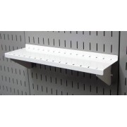 """Wall Control ASM-SH-1604 W 4"""" Deep Pegboard Shelf Assembly for Pegboard and Slotted Tool Board, White"""