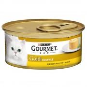 Gourmet Gold Soufflé 24 x 85 g - Pack Mixto (Salmón y Pollo)