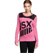 Victoria´s Secret Hooded Pullover French Terry&Mesh Roz XS