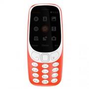 Nokia 363001 3310-Handy (6,09 cm (2,4 Zoll) Display, Dual SIM, MicroSD Speicherkartenleser, 1200 mAh Akku) rot