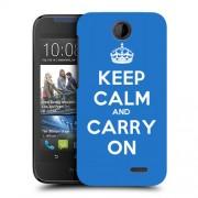 Husa HTC Desire 310 Silicon Gel Tpu Model Keep Calm Carry On