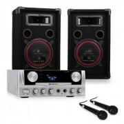DJ Easy Set Audio 2 microfoni e amplificatore