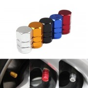 Aluminum 4pcs Car Tires Cap Aluminum Wheel Valves Tyre Stem