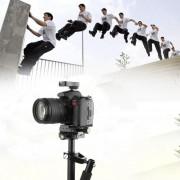 Portable Gradienter Handheld Stabilizer Aluminum Alloy Steadycam Retractable Stabilizer For DSLR Camera DV Camcorder-black