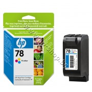 Касета HP 78, Tri-color 38 ml, p/n C6578A - Оригинален HP консуматив - касета с глава и мастило