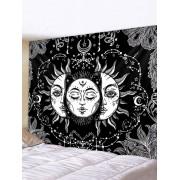 Rosegal Tapisserie Murale Imperméable Motif Soleil et Lune Imprimés Largeur 59 x Longueur 51 pouces
