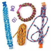 Paracord Bracelet Kits - 6 colourful kits. Each pack includes six lengths (275cm) of paracord plus 6 clasps.