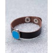 Dare by Voylla Blue Milestone Snap Button Leather Bracelet