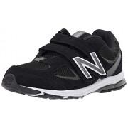New Balance Boys' 888v2 Hook and Loop Running Shoe, Black/Grey, 2 M US Infant