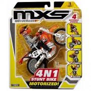 MXS Motocross 4 N 1 Stunt Motorized Stunt Bike - Orange