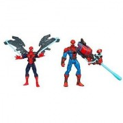 Marvel Ultimate Spider-man Power Webs Exclusive Action Figures 2-pack Web Wingsuit & Crossbow Chaos