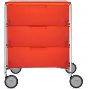 Kartell Mobil 3 ladekast oranje