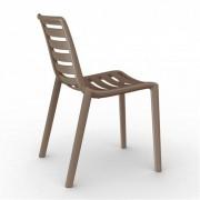 Resol - Conjunto de 2 cadeiras cor de chocolate SLATKAT- RESOL