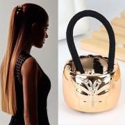 V&V Kovová spona do vlasů s motýlkem - zlatá - V&V