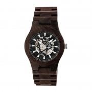 Earth Wood Gobi Automatic Skeleton Bracelet Watch - Dark Brown ETHEW4302