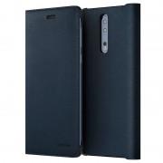 Capa com Aba em Pele CP-801 para Nokia 8 - Azul
