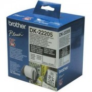 Лента Brother DK-22205 Roll White Continuous Length Paper Tape 62mmx30.48M (Black on White) - DK22205