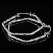 Aro Irma - Silver örhängen kreol femhörning