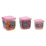 Airtight With Twister Plastic Containers Set of 3 PCS