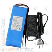 Batteria a Litio per Bici Elettrica Scooter 24V DC 10AH max Discarge 12A 350W