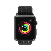 Apple Watch Series 3 Nike+ - caja de aluminio en gris espacial 42mm - correa Loop deportiva negra/platinum-gris (GPS+Cellular) refurbished