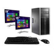 HP Pro 6300 Tower - Intel Core i7 - 4GB - 500GB HDD + Dual 2x 17'' LCD