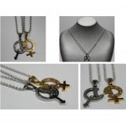 Bijotteria collana con pendenti simboli uomo e donna /400 1267 (oro)