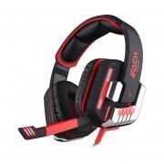 Audífonos Gamer, G8200 Gaming Auriculares Del Juego De La Vibración Del USB Del Auricular Del Juego Con La Luz Del LED (rojo Negro)